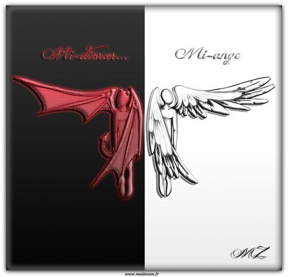 ange et démon  ange/demon  Pinterest