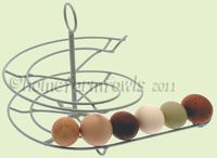 NEW SILVER/PEARL EGG SKELTER ,CHICKEN KEEPERS GIFTS,EGG HOLDER,EGG SPIRAL   eBay