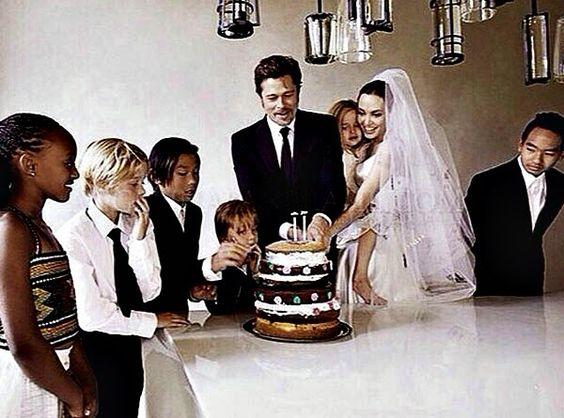 O casamento (DO SÉCULO) de Angelina Jolie e Brad Pitt