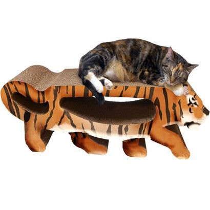 Scratch 'n Shapes Large Tiger Scratcher - 2 in 1 - BD Luxe Dogs & Supplies - 1