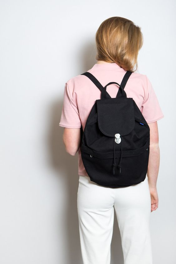 Canvas Backpack / Black
