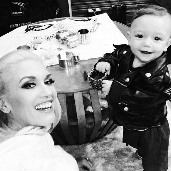 love this pic  Gwen Stefani posts adorable photo of Apollo in a motorcycle jacket - @gwenstefani/Instagram