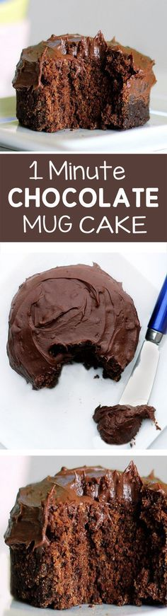 """1 Minute"" Chocolate Cake - For when you're craving something gooey & chocolatey, but still want to be healthy... (under 200 calories)... @choccoveredkt http://chocolatecoveredkatie.com/2011/11/06/one-minute-chocolate-cake/"