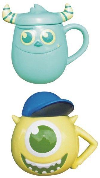 F/S New Disney Pixar Monsters University Mike & Sulley Mug Cup Set Japan 1014 w #SanArt