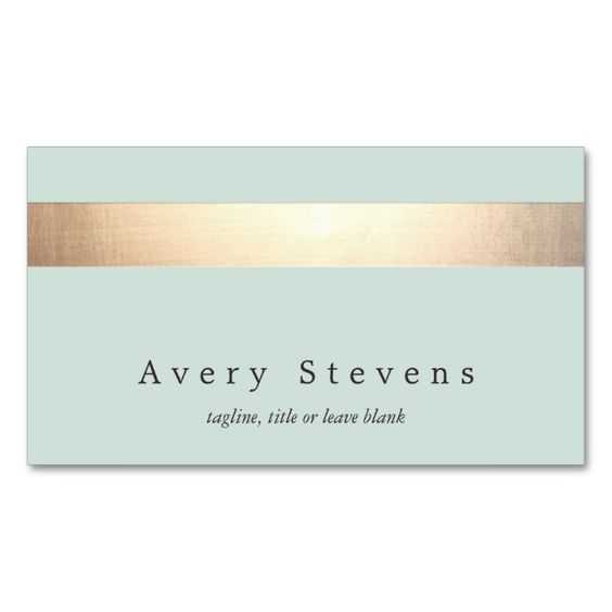 Gold Colored Stripe Modern Stylish Light Turquoise Double-Sided Standard Business Cards (Pack Of 100). This is a fully customizable business card and available on several paper types for your needs. You can upload your own image or use the image as is. Just click this template to get started!