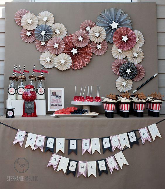 theme magie anniversaire id es de buffet magicien anniversaire enfant paris pinterest. Black Bedroom Furniture Sets. Home Design Ideas