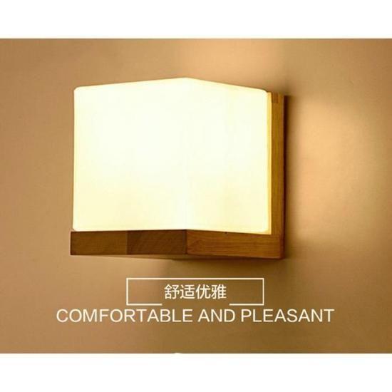 Mur créatif éclairage simple lumière chaude lampe de mur en