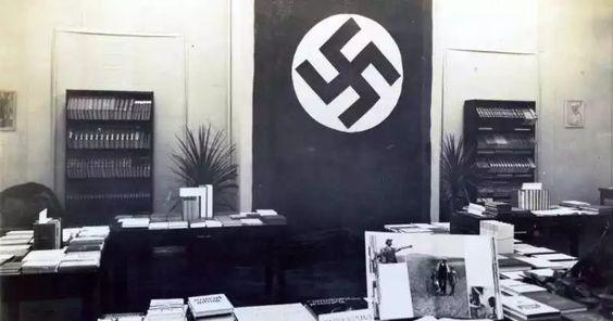 Los libros nazis de la Biblioteca Nacional -- La exposición alemana en la Biblioteca Nacional en 1938. Cortesía Biblioteca Nacional.