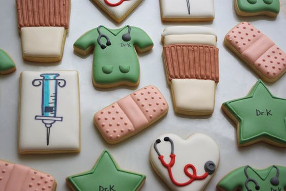 Medical set  Doctor or Nurse  decorated sugar cookies by iBakery, $190.00
