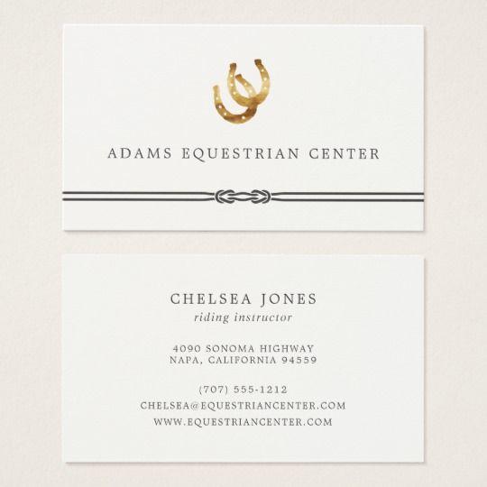 Horseshoes Equestrian Center Riding Instructor Business Card Zazzle Com Business Card Design Business Cards Card Design