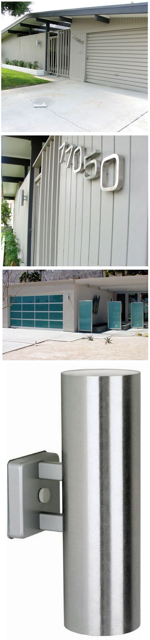 Mid Century Modern Outdoor Wall Sconces : Case Study Sconce with Dual Lighting - Modern Outdoor Wall Sconces Mid century, Patio and Design