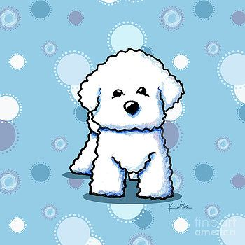 Bichon Frise On Dots by Kim Niles
