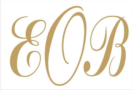 Monogramme pochoirs - Custom Monogram pochoir-3 tailles disponibles-tous les lettres A Z - créer allée Runner ou Monogram signes !