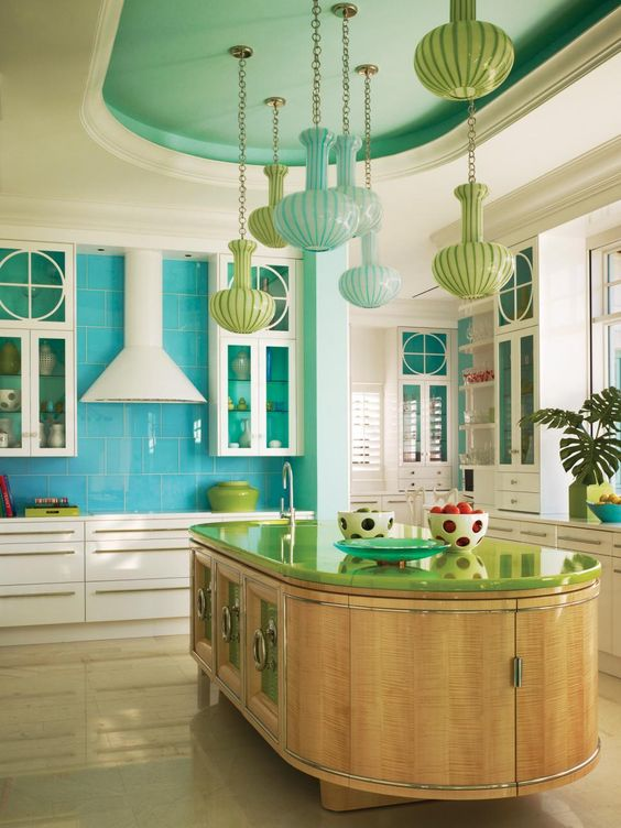 Outstanding Colorful Kitchen