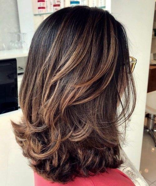 Mittellanges Haar Frisur Hair Styles 2019 Haarschnitt
