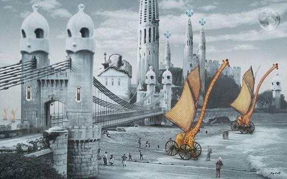 The Bridge of Gaudi's Beach - José Galant (Print)