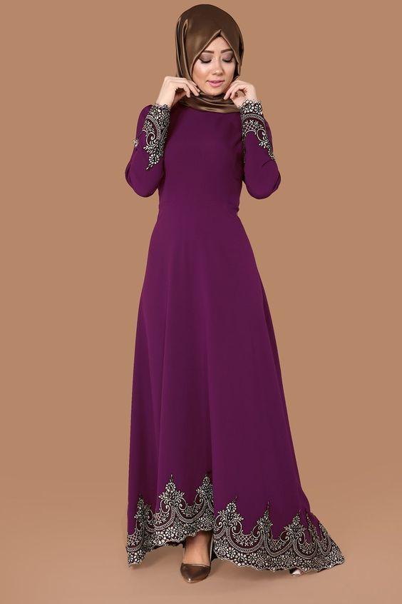 فساتين سهره تركى محجبات 2018 أحدث صيحات الموضة للدرسات التركى Dress Neck Designs Dresses Beauty Dress