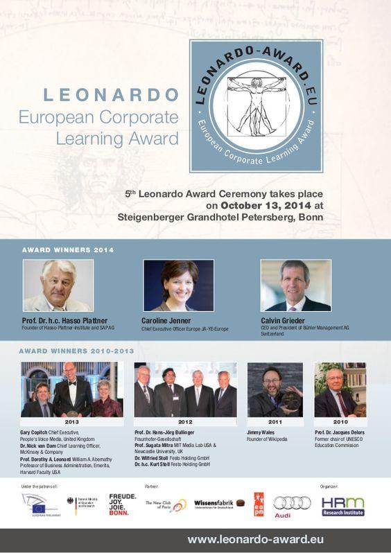 Leonardo Corporate Learning Award Winners 2014 Dossier by Peter Palme via slideshare
