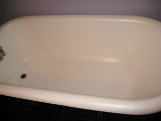 How To Refinish A Clawfoot Tub Rustoleum Countertop Paint Mixed White