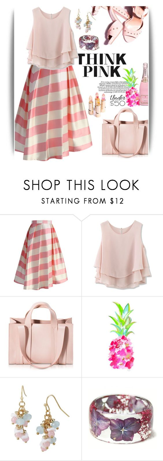 """""""189"""" by believelikebreathing ❤ liked on Polyvore featuring Chicwish, Corto Moltedo, Mixit, under50 and skirtunder50"""