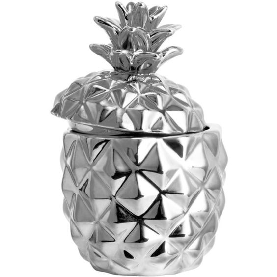 H&M Candle ($7.57) ❤ liked on Polyvore featuring home, home decor, candles & candleholders, unscented candles, round candles, pineapple candle, h&m and pineapple home decor