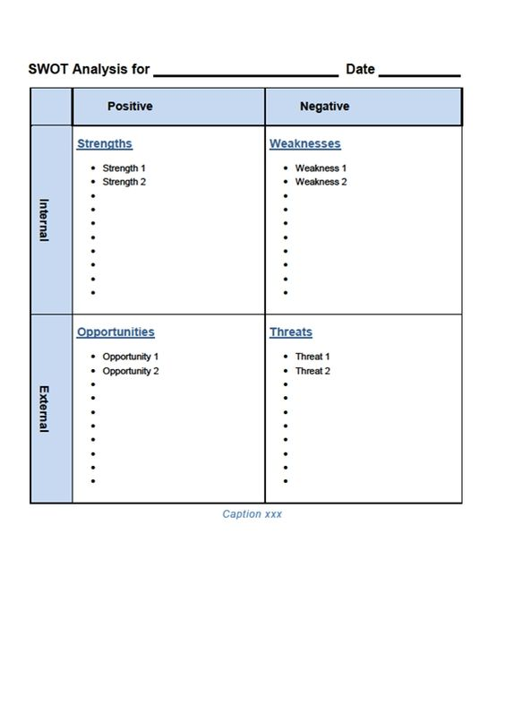 SWOT Analysis Template Word SWOT Template Word Swot analysis - swot analysis example