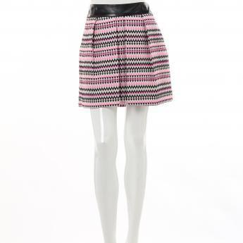 Milly zig zag tweed skirt