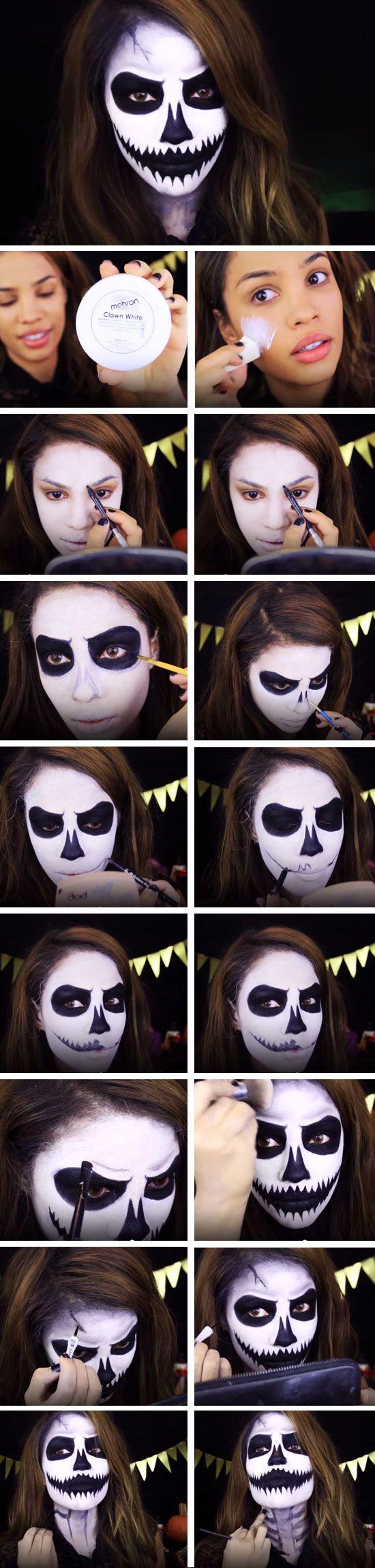Gta 5 Face Paint : paint, Quick, Halloween, Costumes, Women, Makeup, Scary,, Makeup,, Tutorial