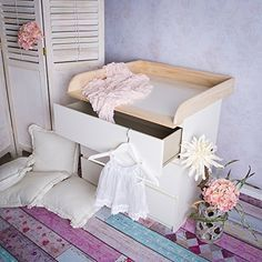 table langer en bois naturel pour commode ikea malm chambre bb pinterest malm ikea and tables - Ikea Chambre Bebe Table A Langer