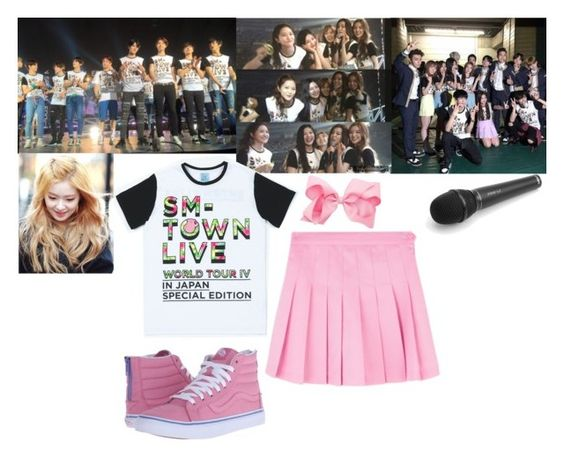 """""""Red Velvet - SMTOWN 2015"""" by marissa-malik ❤ liked on Polyvore featuring Vans"""