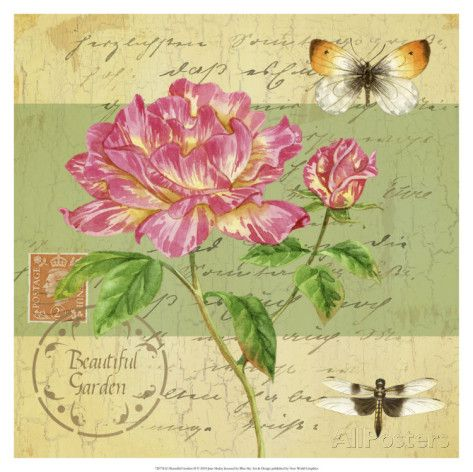 Beautiful Garden II Posters por Jane Maday na AllPosters.com.br