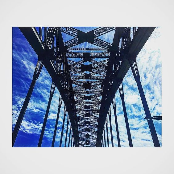 Under the #sydneyharbourbridge #harbourbridge #sydney #clouds #bridge by jaicherryjeanes http://ift.tt/1NRMbNv