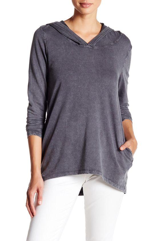 Cutout Back Hooded Sweatshirt