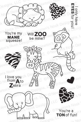 Wild About Zoo | 4x6 photopolymer Stamp Set | Newton's Nook Designs