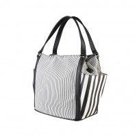 Pierre Cardin  - Sac shopping en matériau synthétique double poignée  - fermeture zippée  - une poche zippée, 2 poches interieur  - mesures 38*28*16 cm