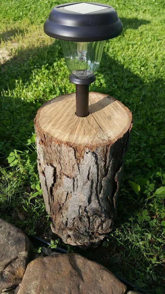 Tree Trunk Decorative Garden 15 Diy Ideas For An Original Garden
