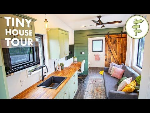 Stunning Tiny House With Smart Detachable Trailer Design Full Tour Youtube In 2020 Tiny House House Small Spaces