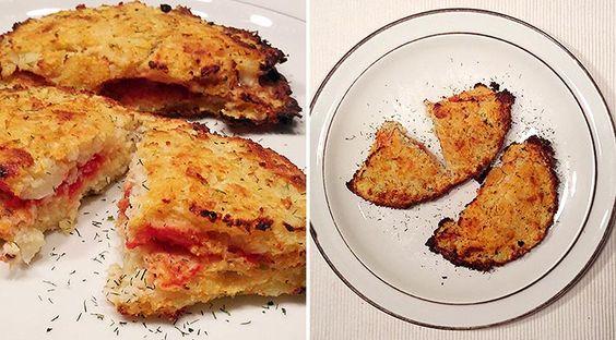 Low Carb Rezept für leckere Mini Low-Carb Calzone aus Blumenkohl. Wenig Kohlenhydrate und einfachzumNachkochen.Super für Diät/zum Abnehmen.