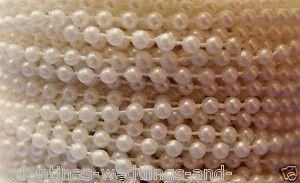4mm Pearls on a Roll Choose Colour Length Beads Cake Craft Wedding Bridal Favor | eBay