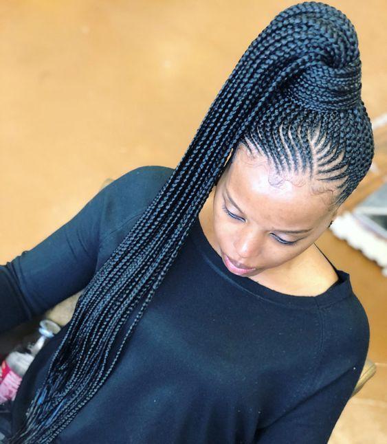 20 New Ghana Weaving Hairstyles For Ladies In 2020 Braided Hairstyles African Braids Hairstyles Hair Styles