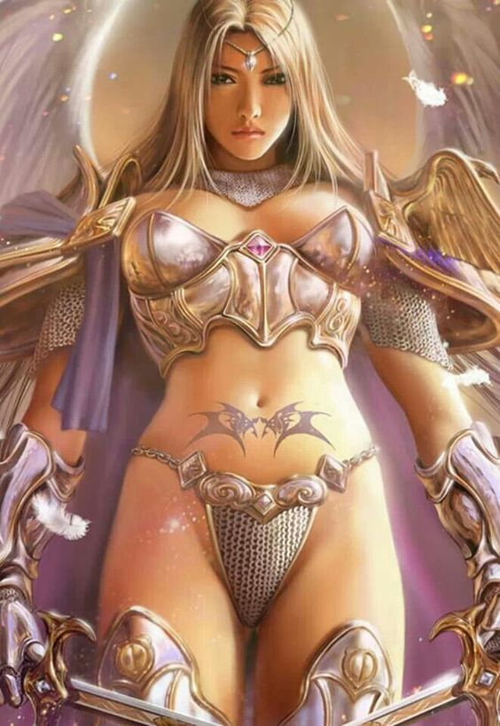 Position'_5 (2006) erotic woman warrior fantasy art was