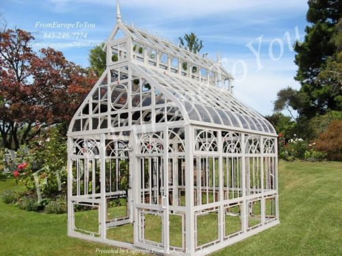 Victorian Style Cast Iron Tempered Glass Gothic Gazebo