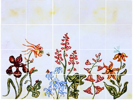 Decorative Kitchen Tile Decals Ideas Floral Kitchen Tile Decals