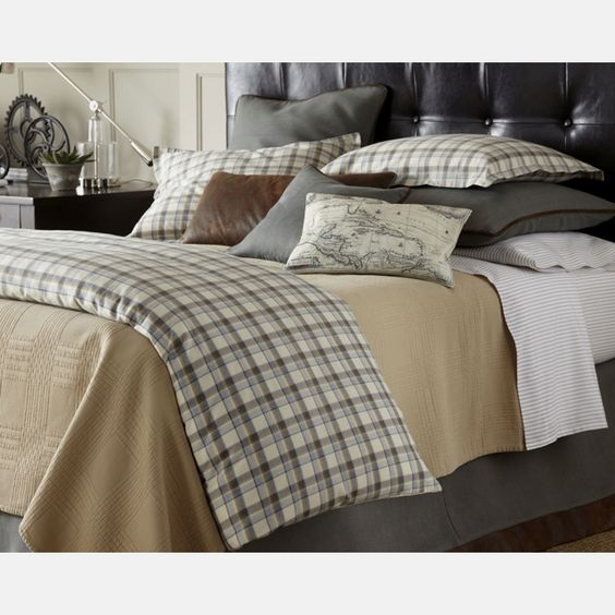 traditions scottie plaid bed in neiman marcus bedding. Black Bedroom Furniture Sets. Home Design Ideas