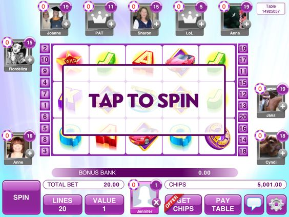Wheel deal: tap the reels to spin