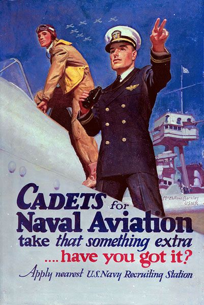 Navel Aviation Recruiting Poster by McClelland Barclay
