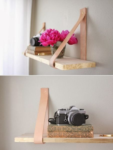 DIY : Wood & Leather Suspended Shelf | DIY & Crafts Tutorials