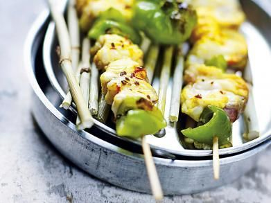 Recept voor op de barbecue: visspiesjes met saffraan en paprika!