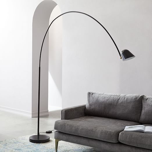 Led Overarching Boom Arm Floor Lamp Floor Lamp Black Floor Lamp