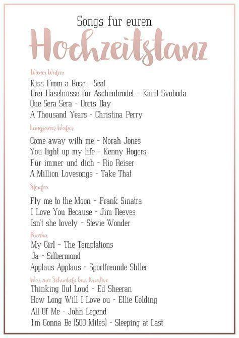 Pin Von Sophiamaria Kass Auf Hochzeit In 2020 Hochzeitstanz Musik Hochzeit Lieder Hochzeit